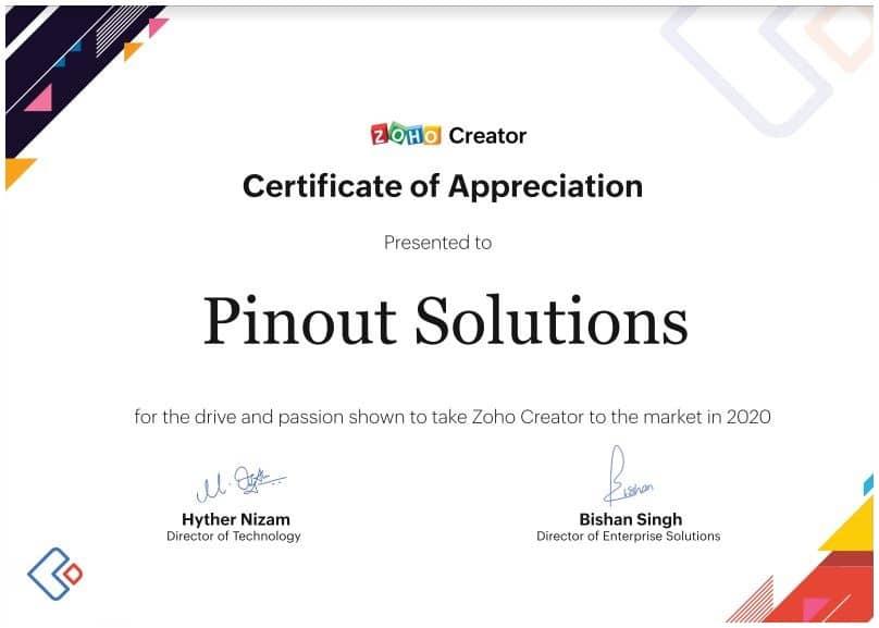 Reconocimiento Partners Zoho